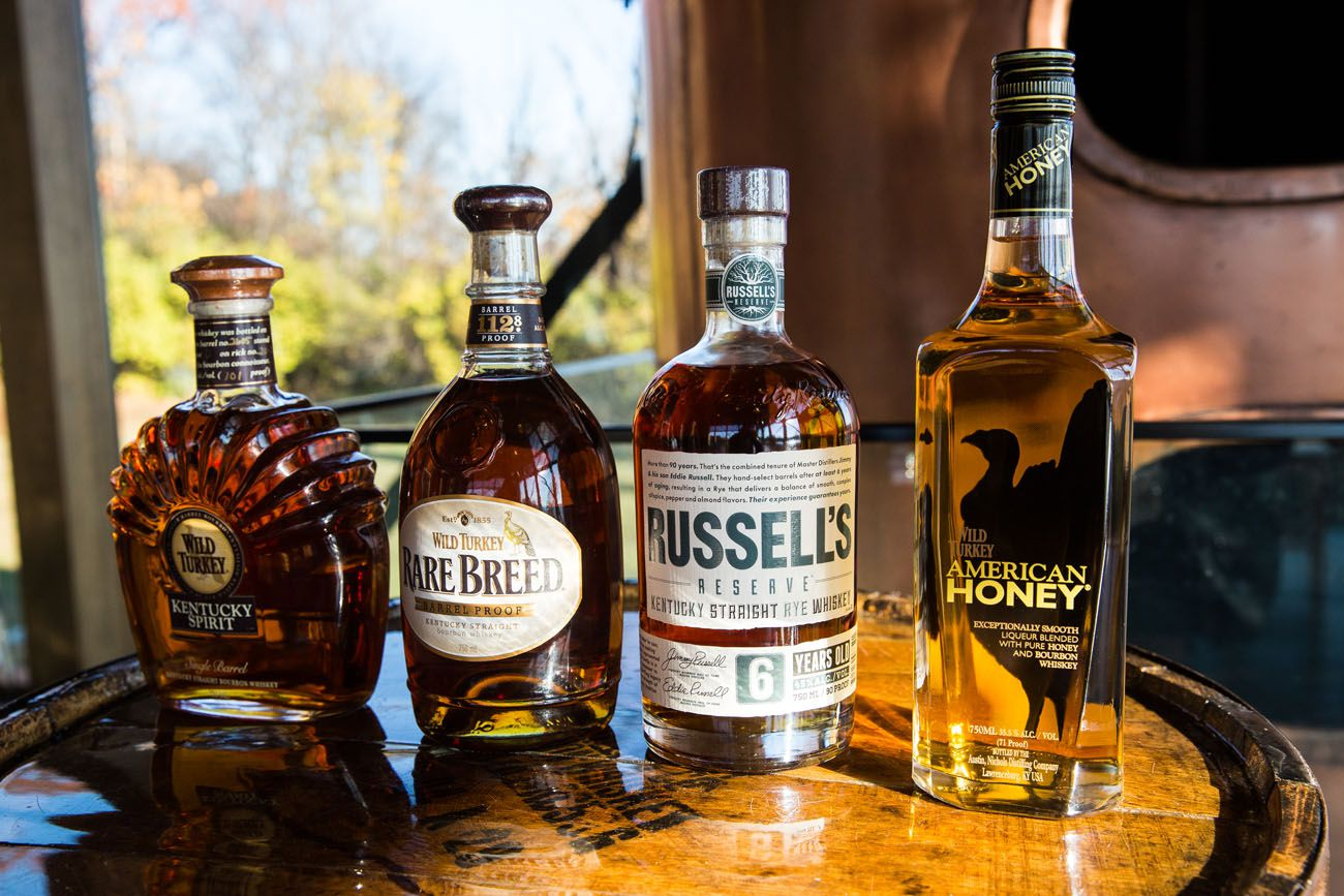 Wild Turkey Kentucky Bourbon Trail itinerary