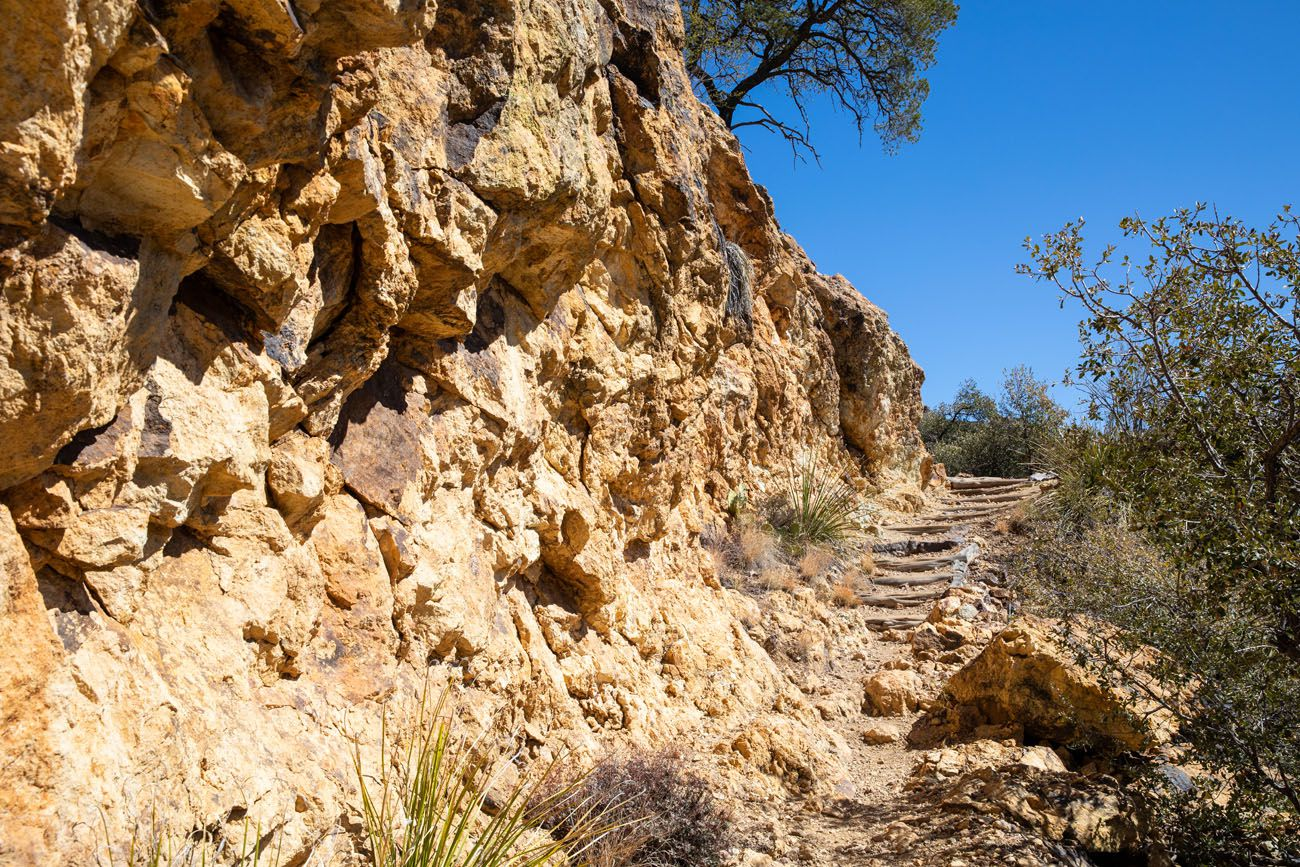 Boot Canyon Trail Steps