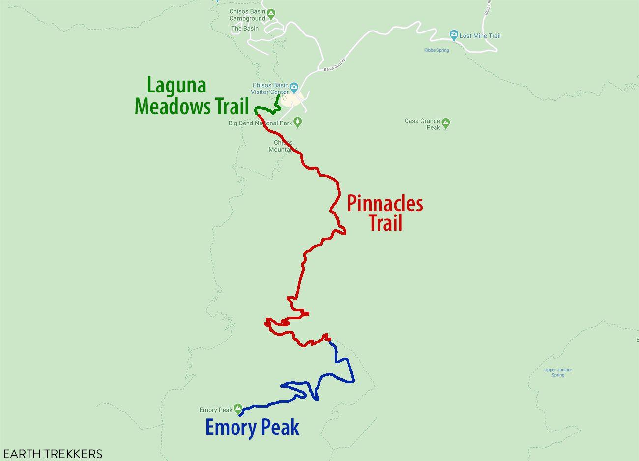 Emory Peak Map