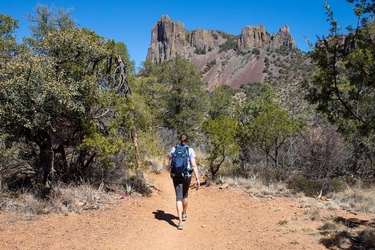 Julie on the Pinnacles Trail