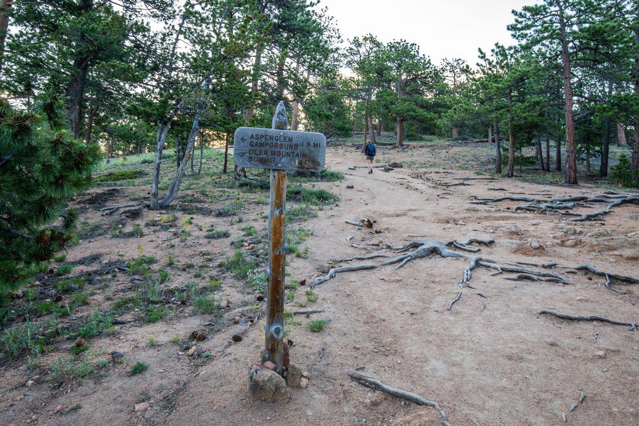 Deer Mountain Hike Sign