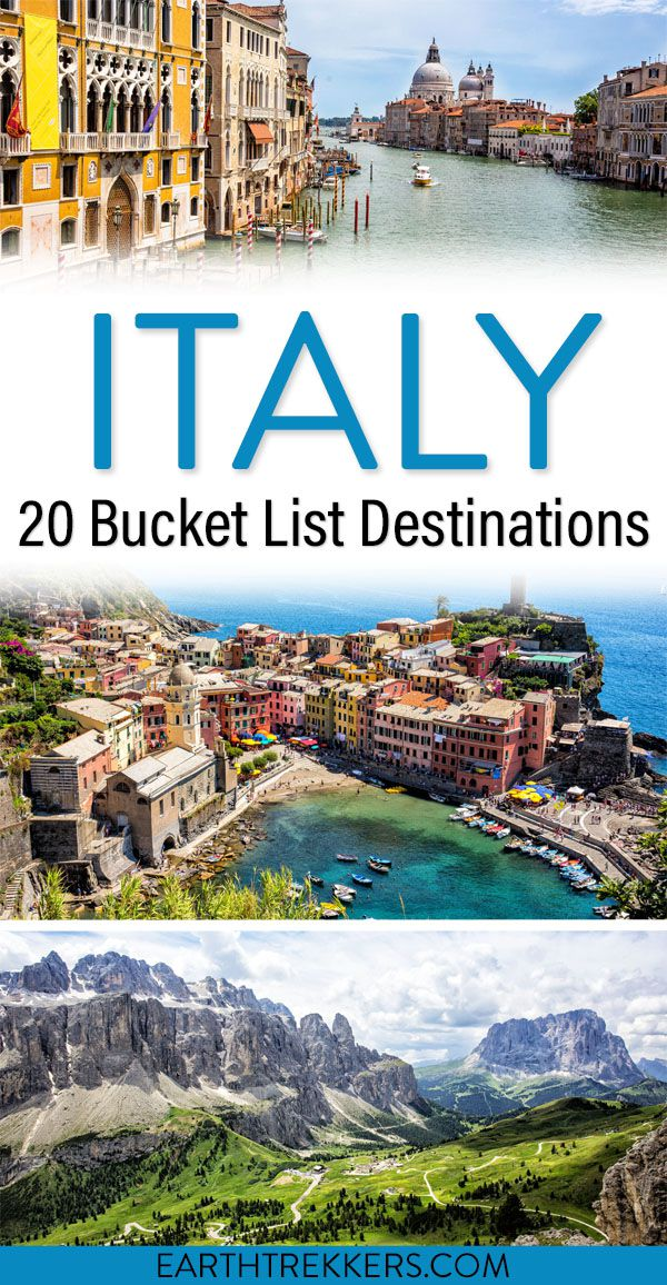 Italy Bucket List and Best Places