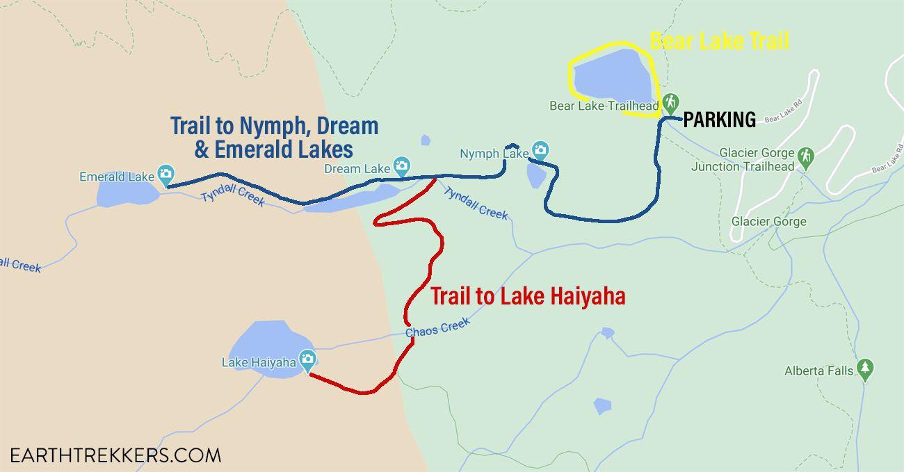 Emerald Lake Hike Map