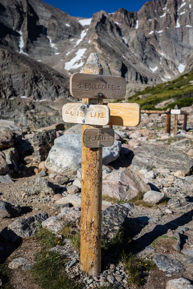 Chasm Lake Trail Sign