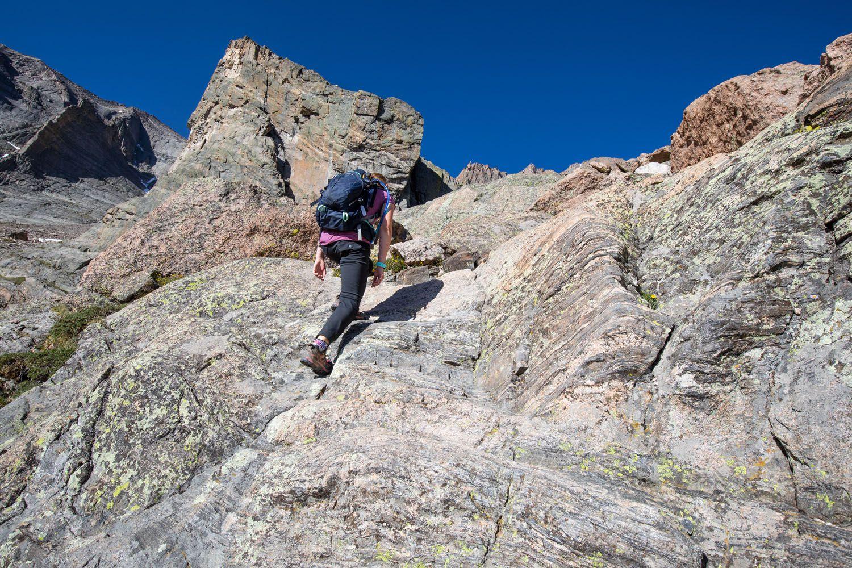 Kara on the Climb