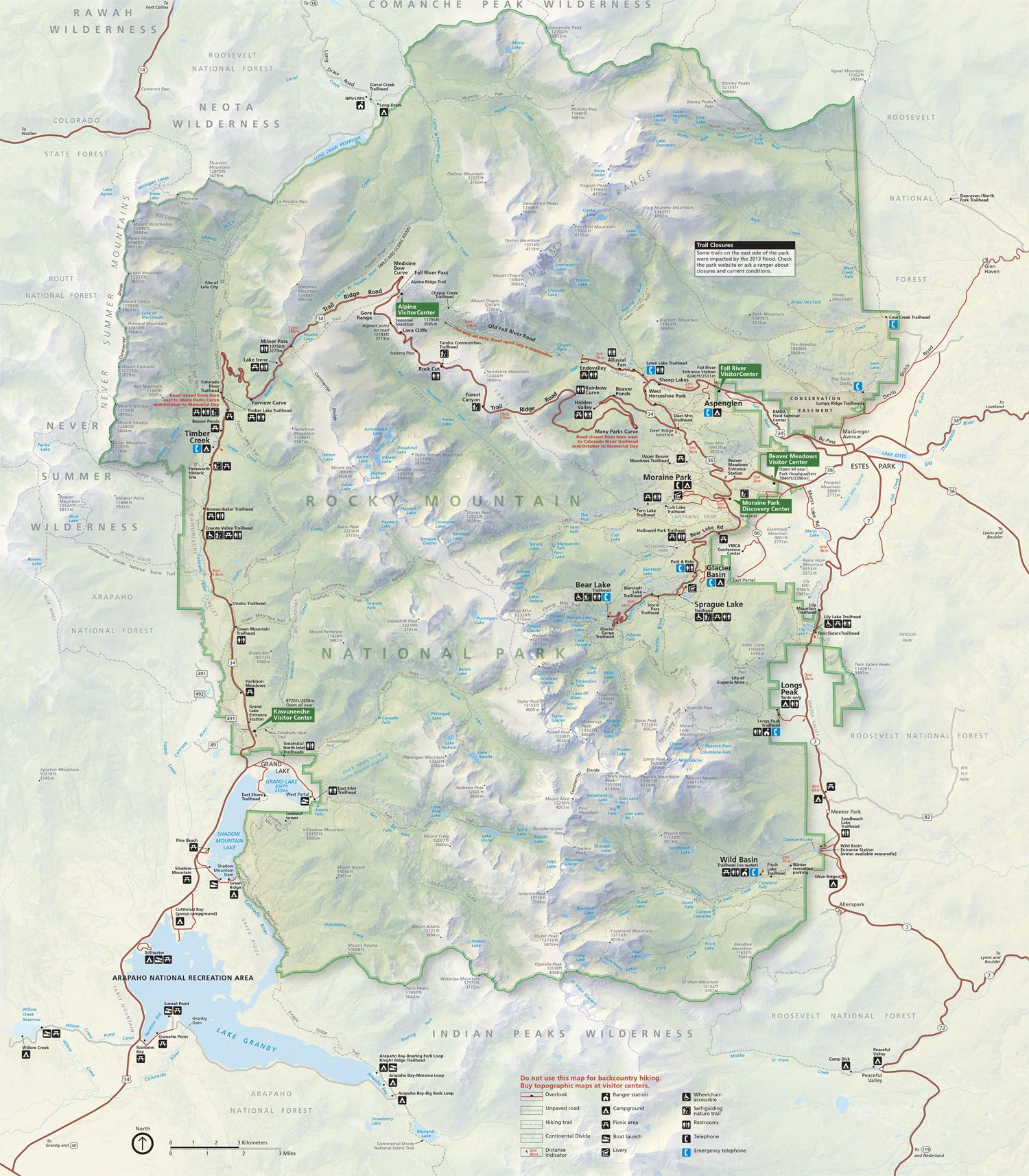 Map of RMNP