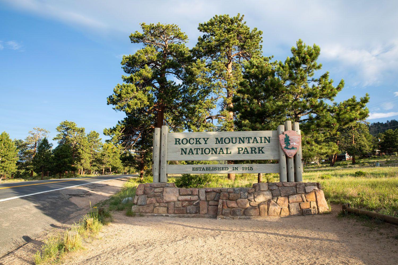 Rocky Mountain Entrance Sign