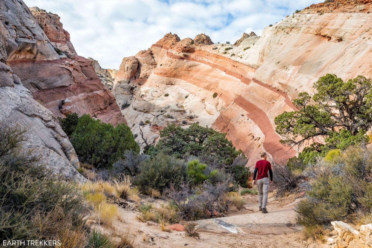 Capitol Reef Hiking Trail American Southwest road trip