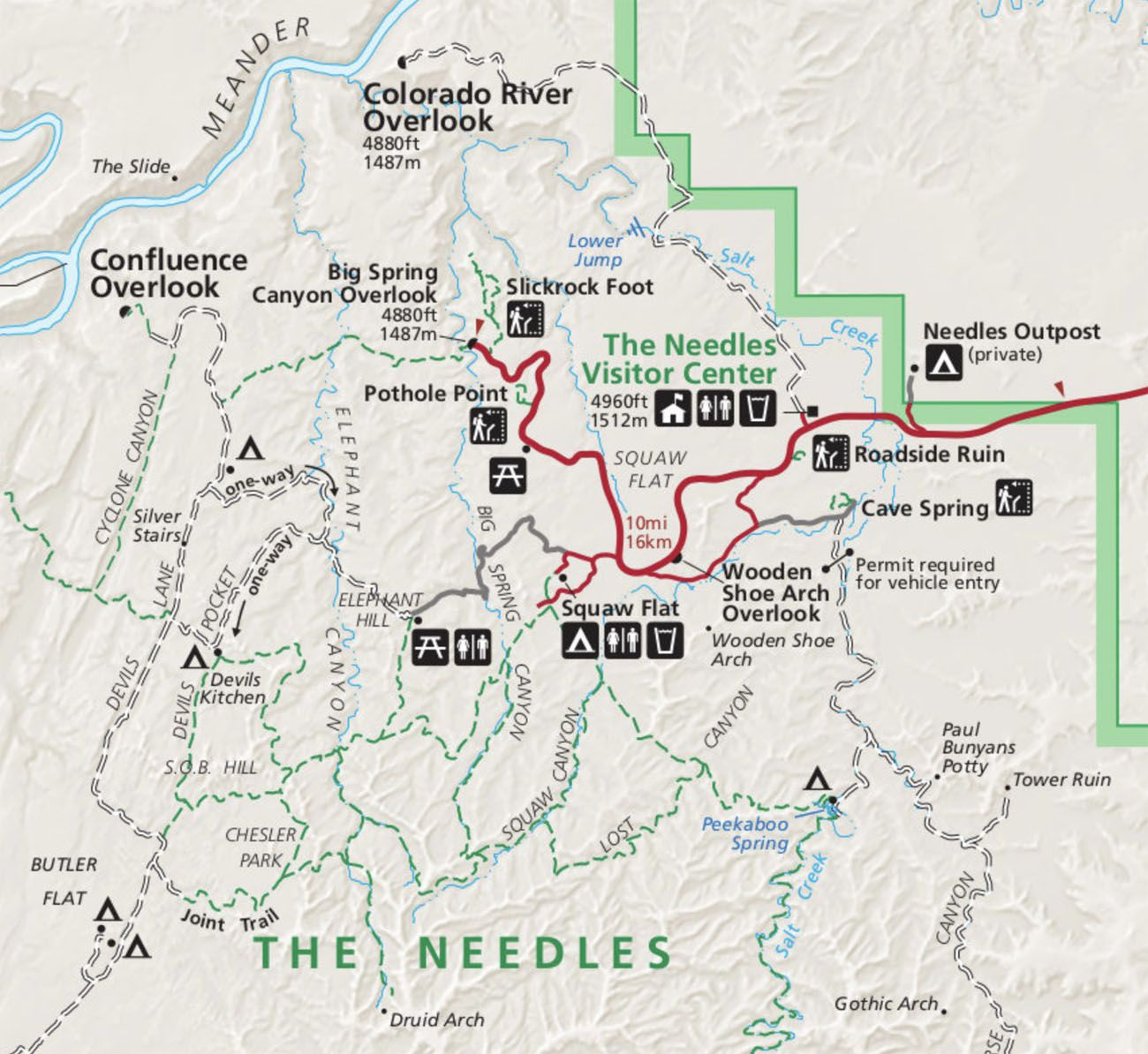 Map of the Needles