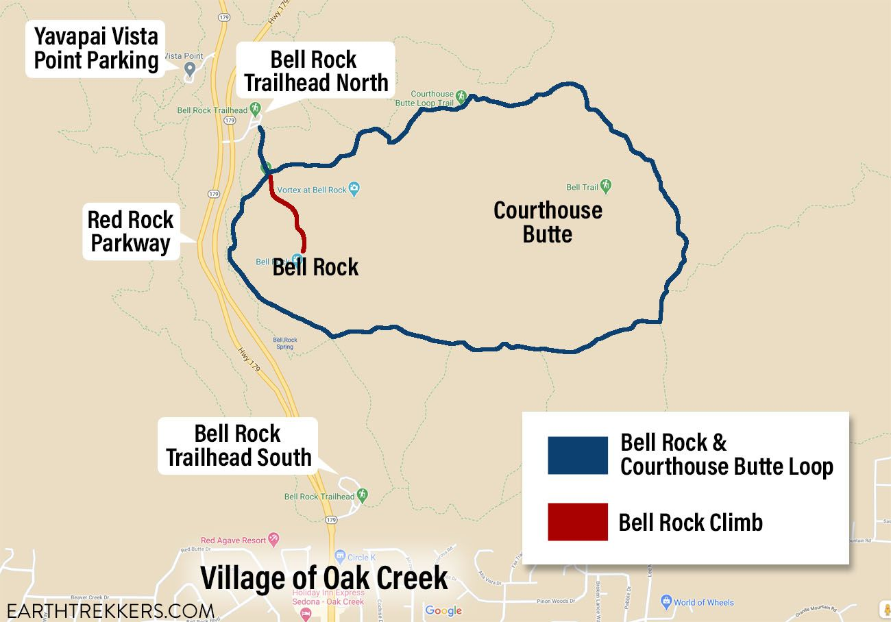 Courthouse Butte Loop Trail Map