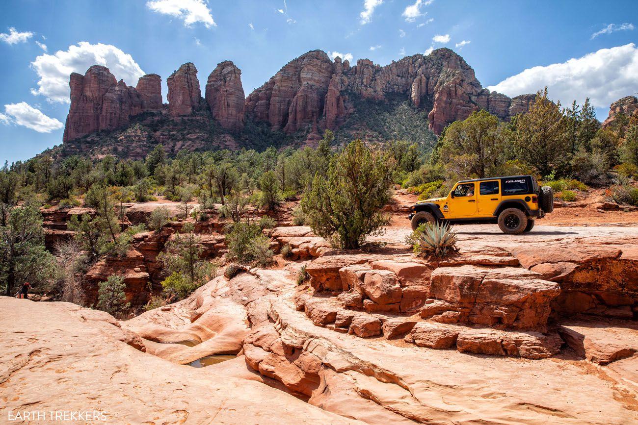 Jeep at Seven Sacred Pools