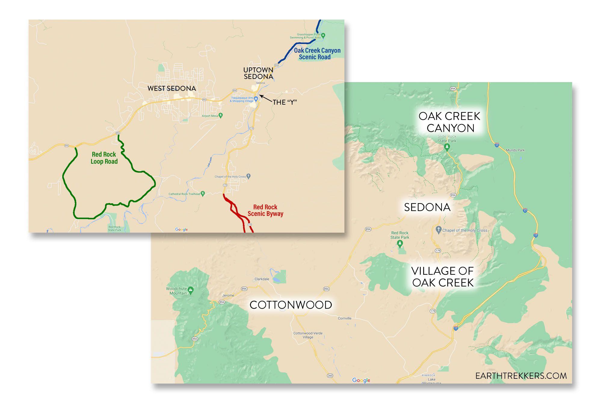 Sedona Arizona Map
