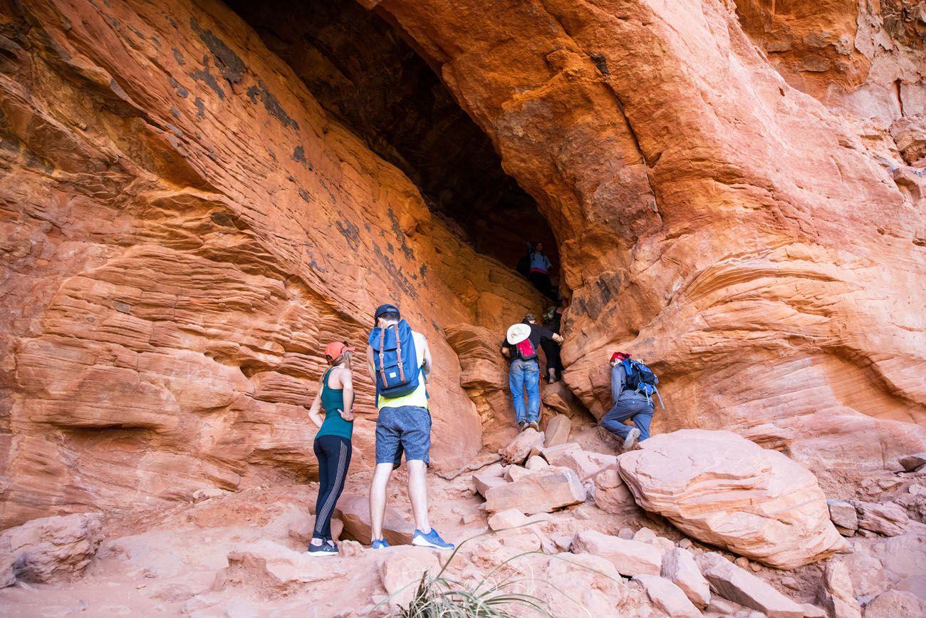 Soldier Pass Cave entrance