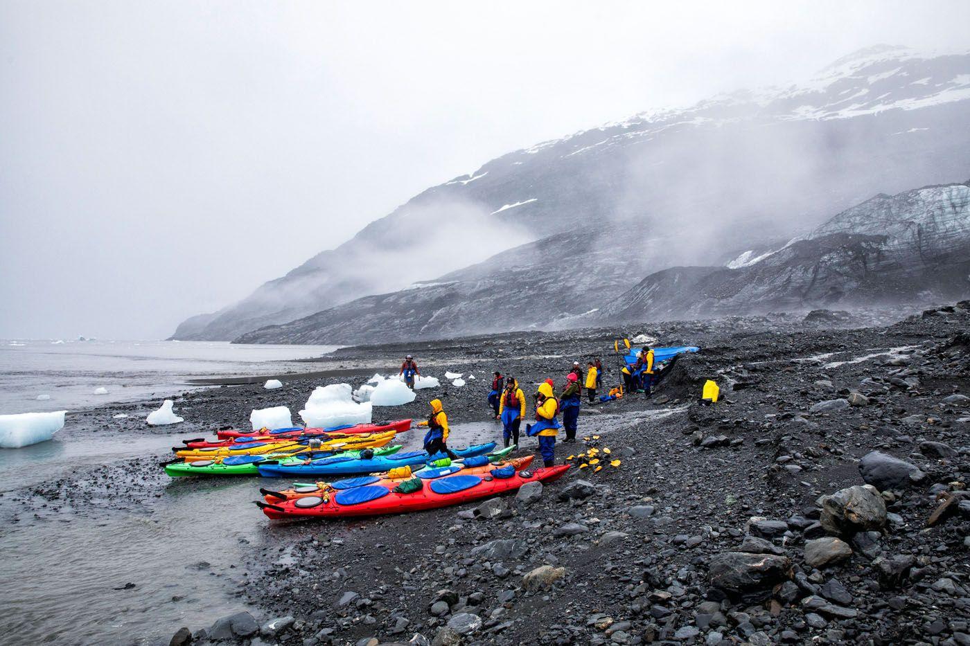 Columbia Glacier Kayaking Tour Lunch Spot