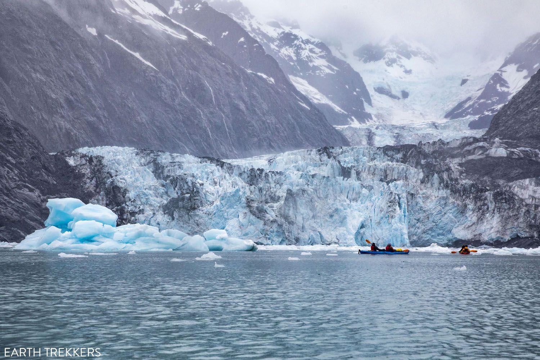 Kayaking Columbia Glacier