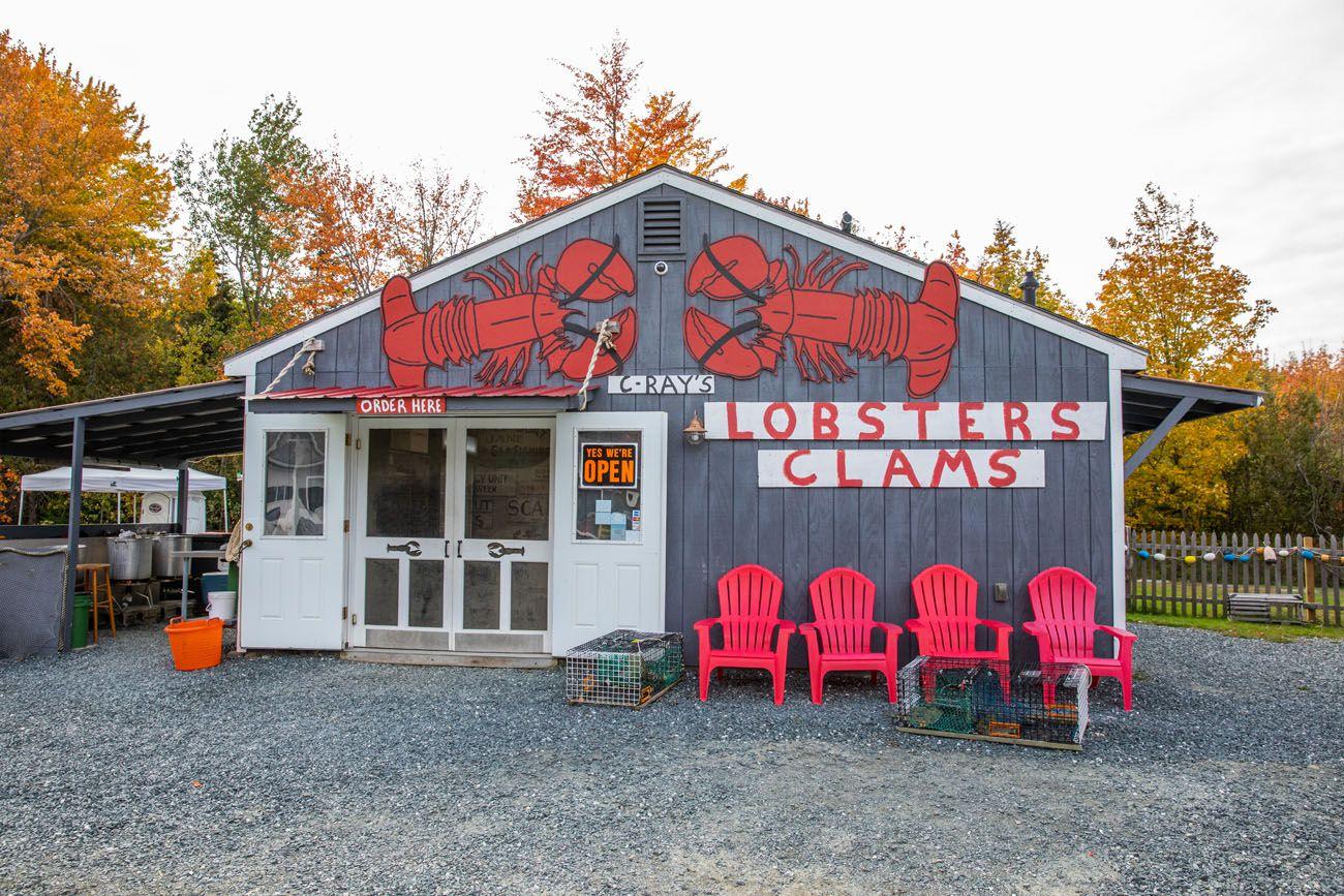 Lobsters Acadia Itinerary