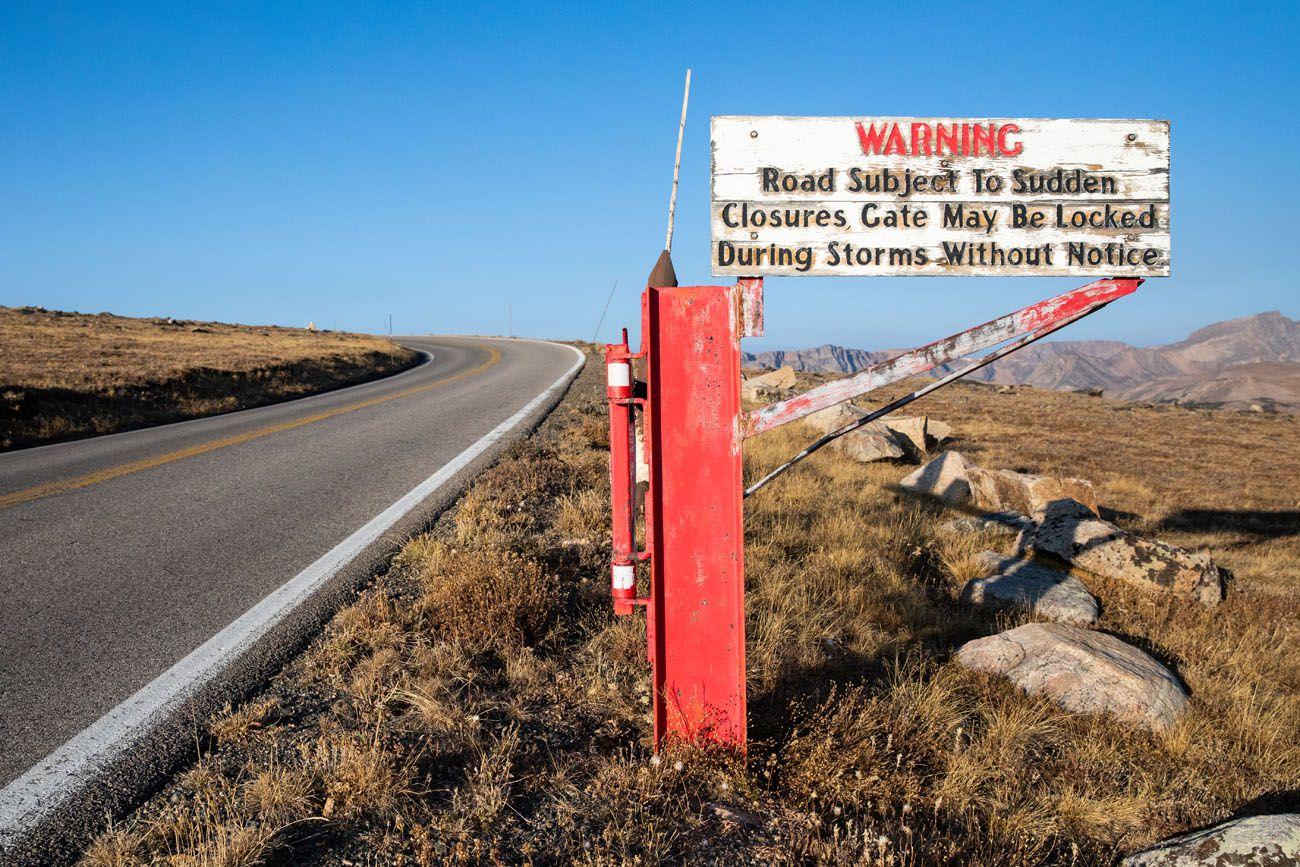 Beartooth Highway Sign